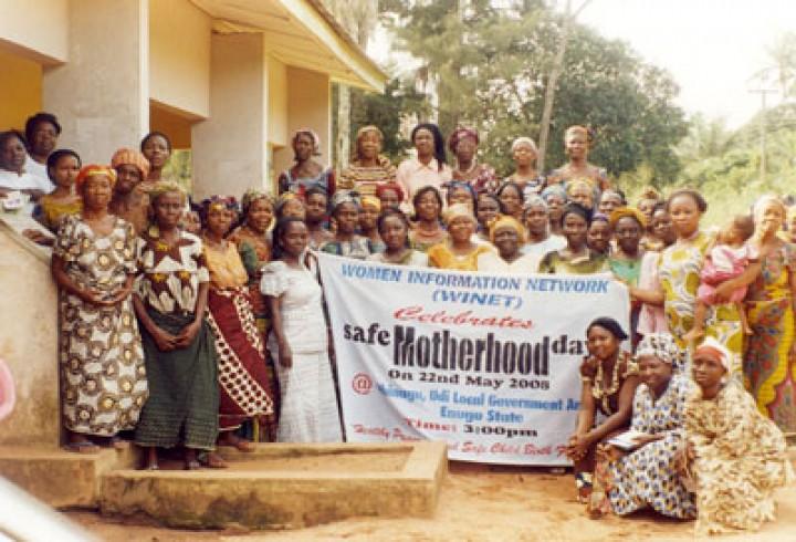WINET celebration of Safe Motherhood Day 2008 at Obinagu Udi local government area of Enugu State, Nigeria