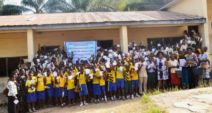 Students of Government  Secondary for the Deaf Obgete Enugu after an awareness training on Democracy and Fundamental  Human Rights