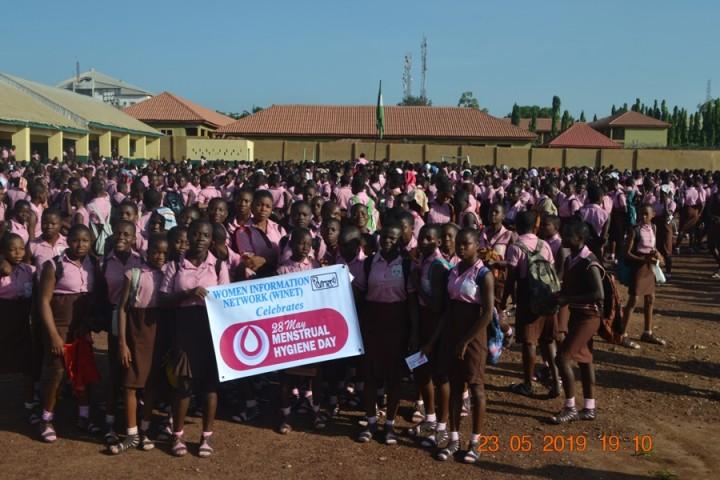 WINET celebration of 2019 Menstrual Hygiene Day Girls High School Uwani Enugu, Enugu State, Nigeria
