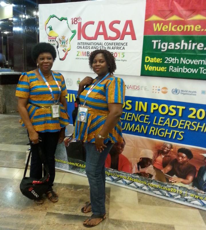 ED WINET, Miriam Menkiti and Program Manager Ijeoma Obinna-Onwuka at ICASA 2015 in Zimbabwe